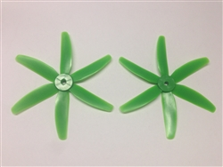 DragonRC -  Gemfan 6 blade 5040 Green Nylon Glass Fiber Multirotor Prop Pair (CW/CCW)