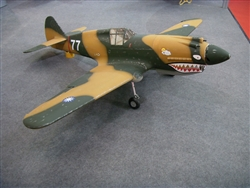"DragonRC  Curtiss P-40 Warhawk 60CC  93"" Scale Warbird"