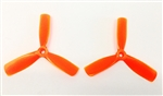 DragonRC -  Gemfan Tri-blade 4045 Orange Nylon Glass Fiber Multirotor Prop Pair (CW/CCW)