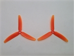 DragonRC -  Gemfan Tri-blade 5030 Orange ABS Plastic Multirotor Prop Pair (CW/CCW)